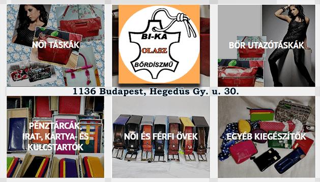 BI-KA Bőráru Kft. Bőrdíszmű áru, Importőr, Nagykereskedő